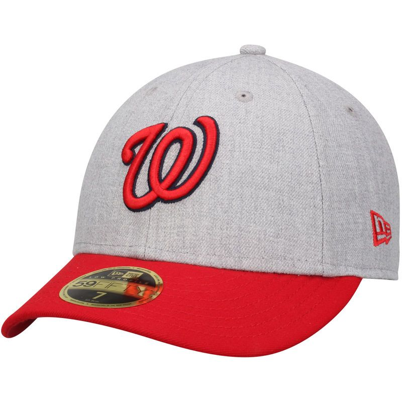 34ed21240522bf Washington Nationals New Era Change Up Low Profile 59FIFTY Fitted Hat -  Heathered Gray/Red