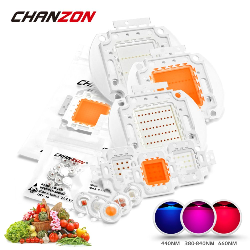 Haute Puissance LED Chip Full Spectrum Grow Light Lampe 1 W 3 W 5 W ...