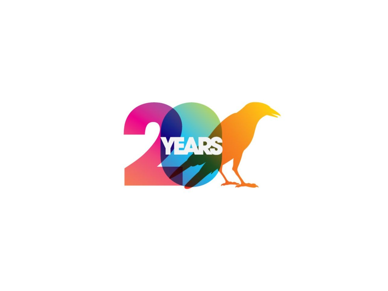 Bird th anniversary logo graphis logos