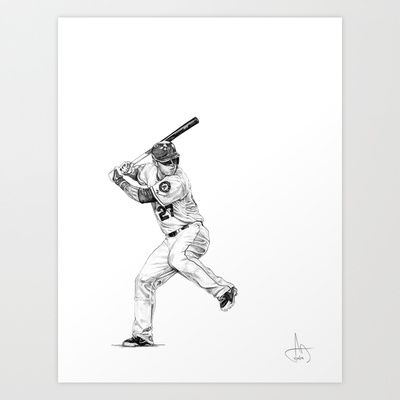 Mike Trout Drawing Mike Trout Baseball Art