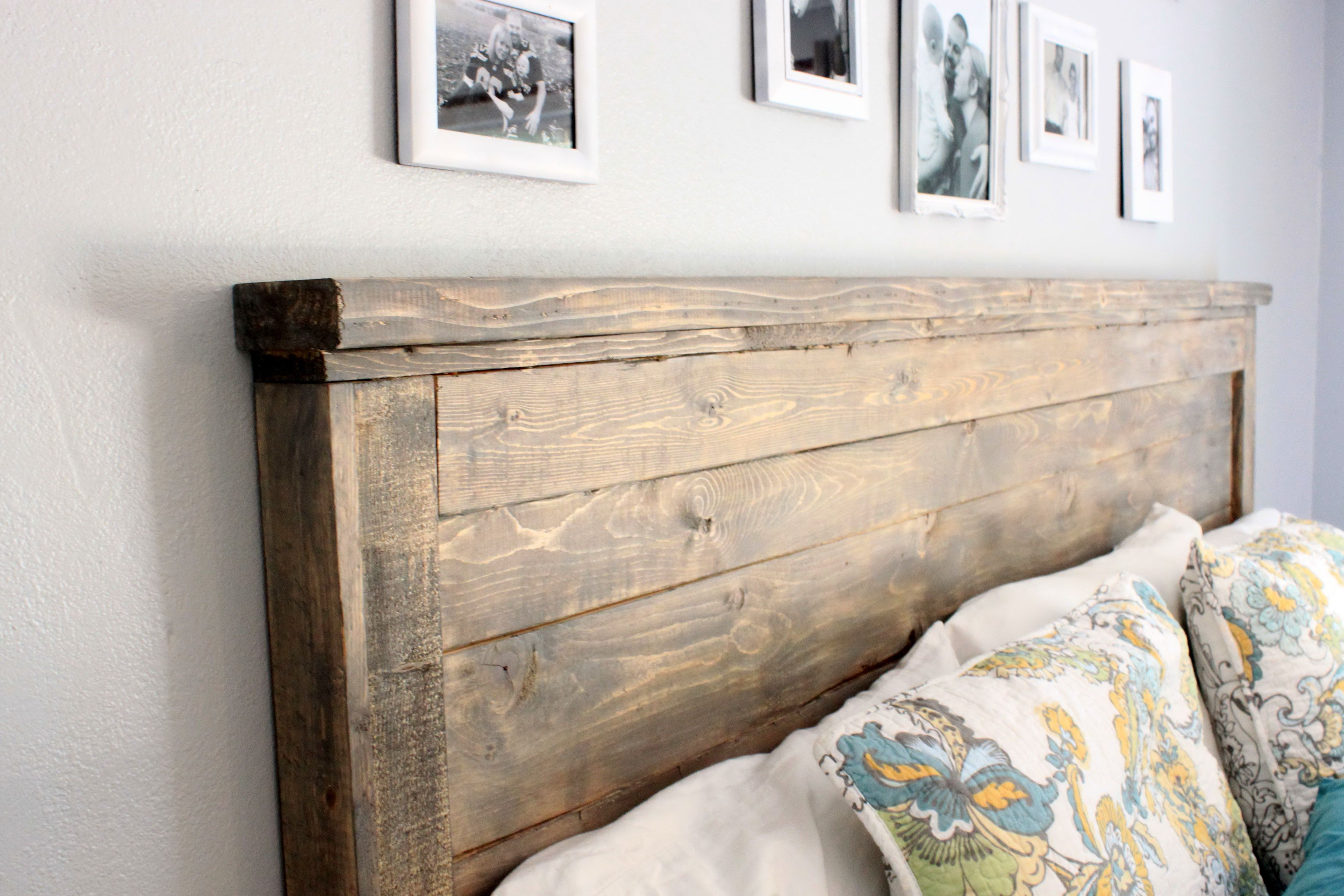 59 Incredibly Simple Rustic Décor Ideas That Can Make Your: Diy Wood Headboard King Size