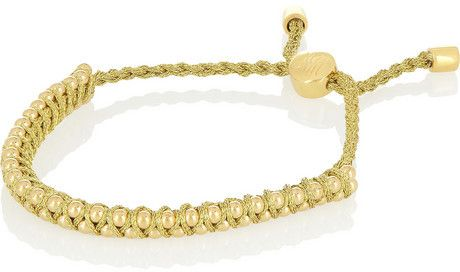 Rio gold-plated beaded bracelet on shopstyle.com