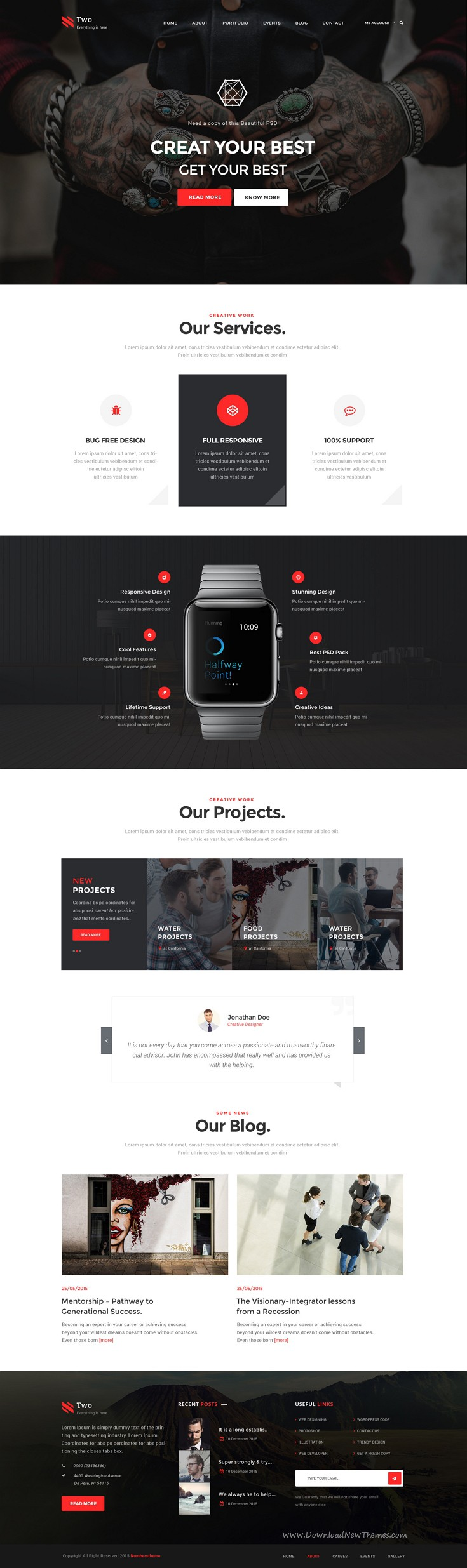 NumberTwo - Creative Multipurpose PSD Template | Kreativ
