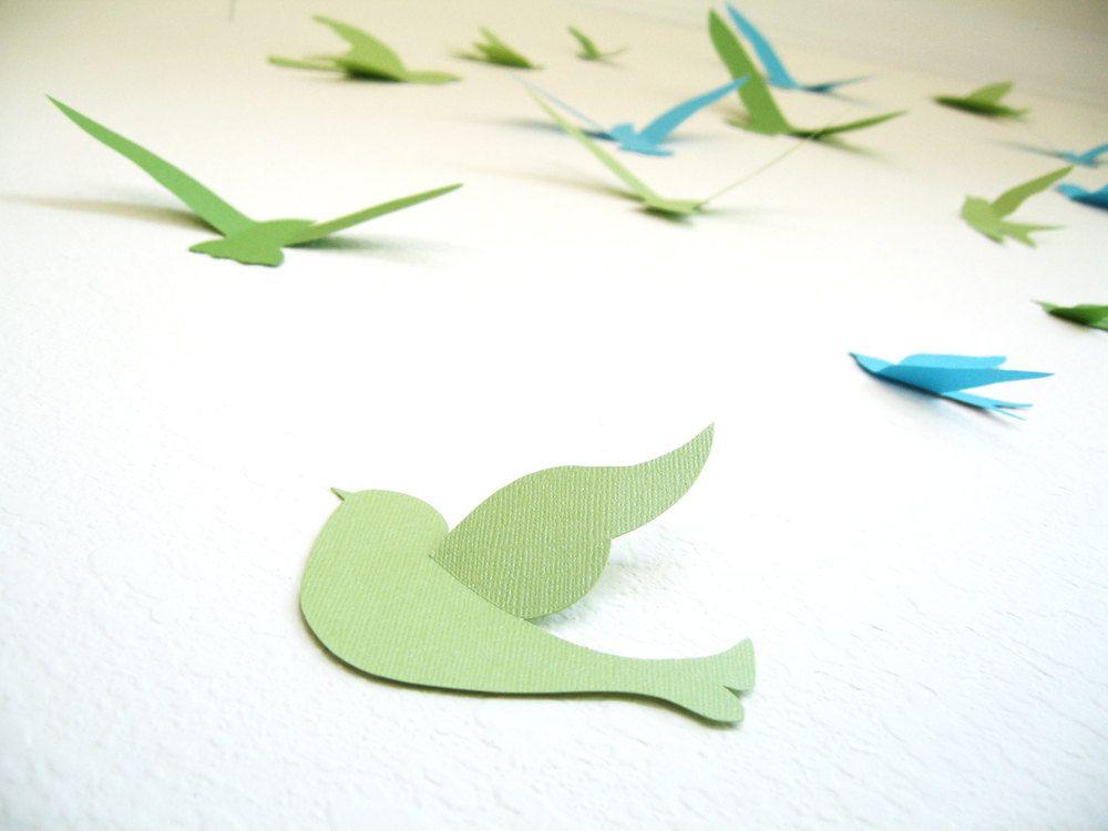 15 Birds 3D Wall Decor, 3D Wall Art, Nursery, Boys Room ...