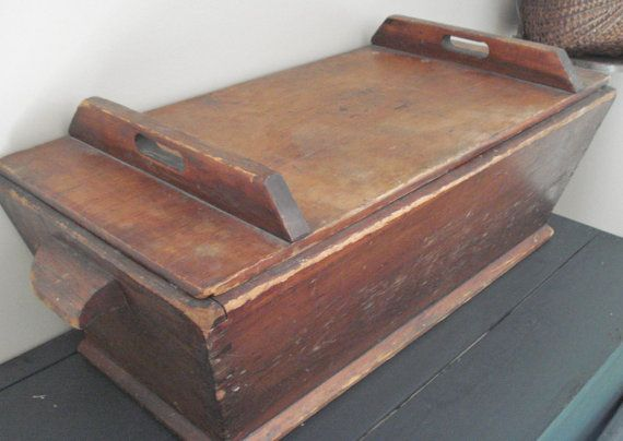 Antique Dough Box With Original Lid Square By