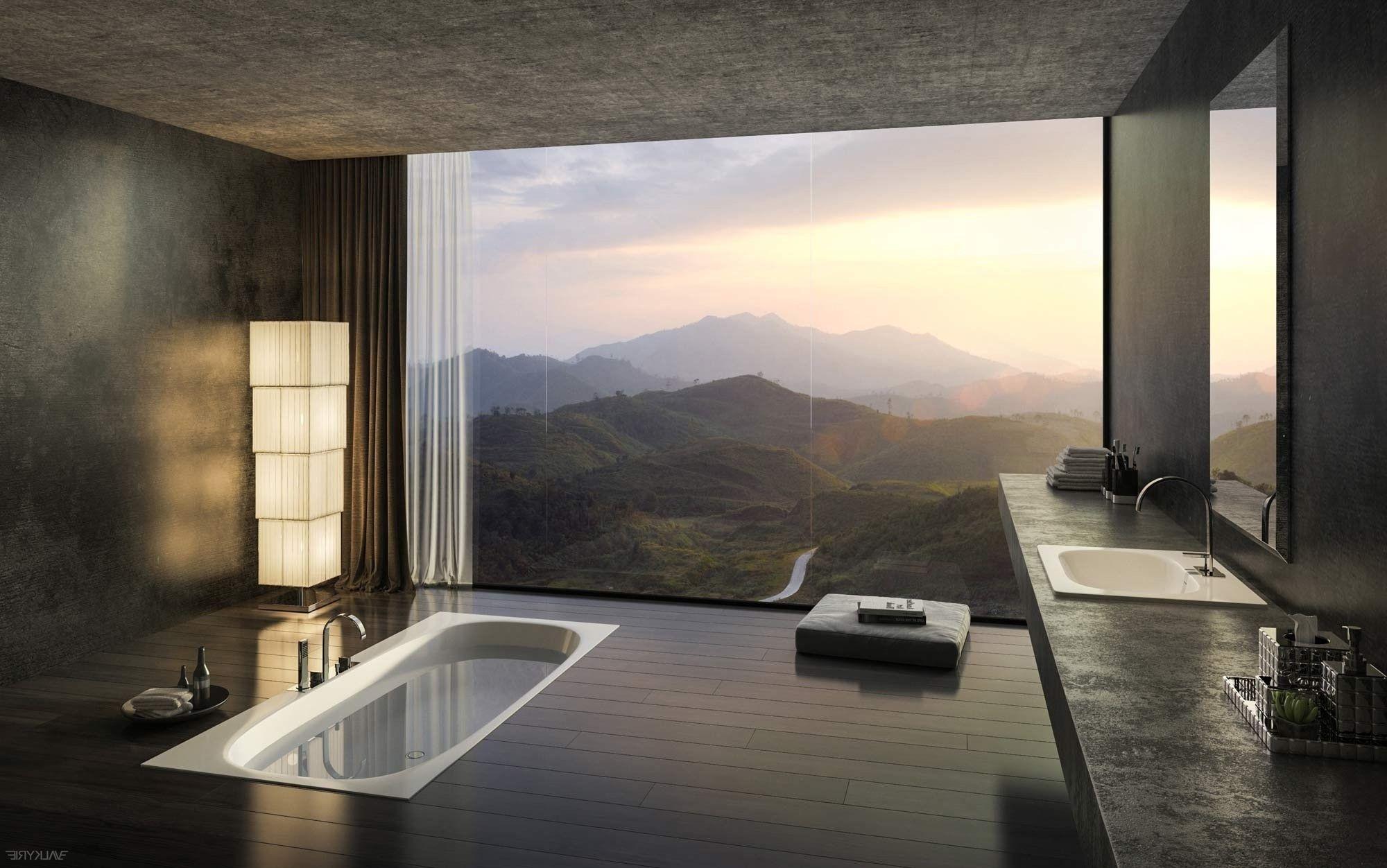 40 Stunning Luxury Bathrooms With Incredible Views Luxury Bathroom Bathroom Design Luxury Sunken Bathtub