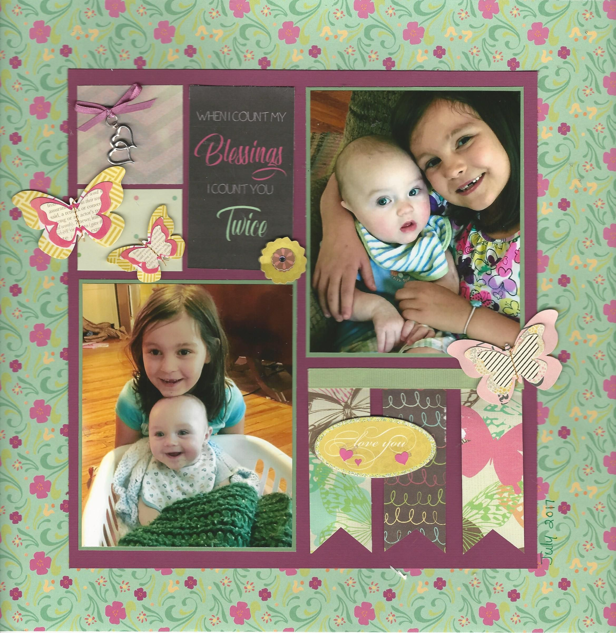 Baby Blessing Scrapbook Page Kit