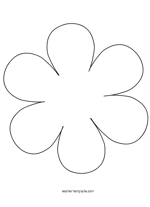 Petal flower template permalink petal template 5 petal for Flower template 5 petals