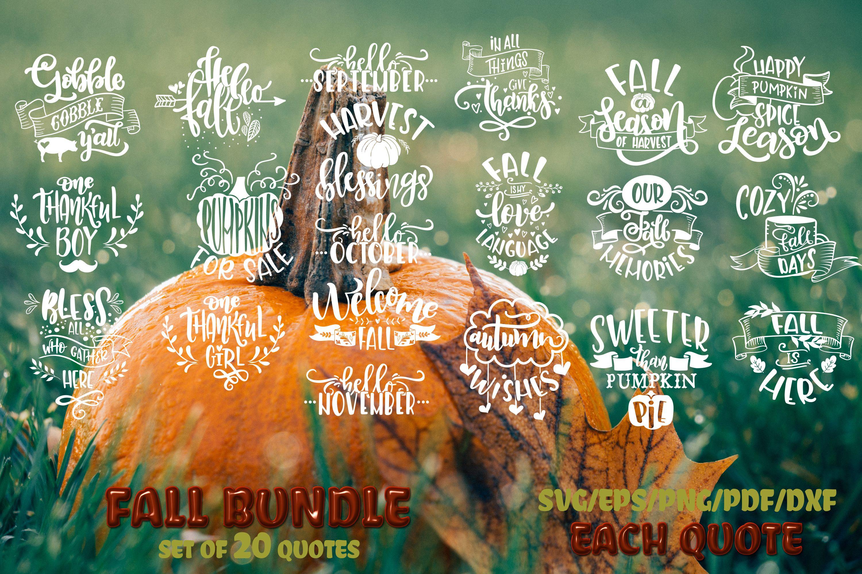 Fall svg BUNDLE BIG set of 80 quotes Autumn Thanksgiving