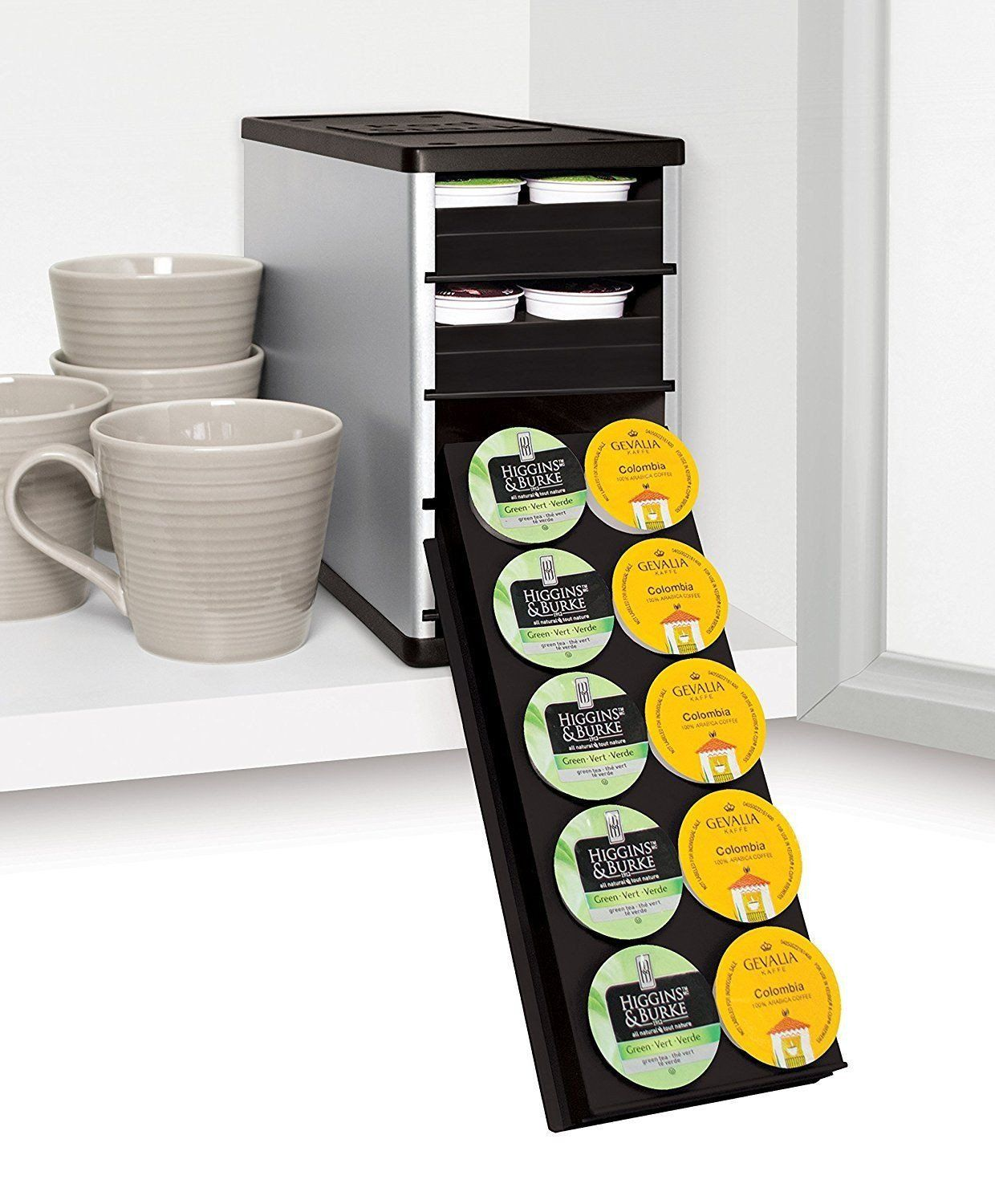 Youcopia Coffeestack 40 K Cup Amp Coffee Pod Cabinet Storage