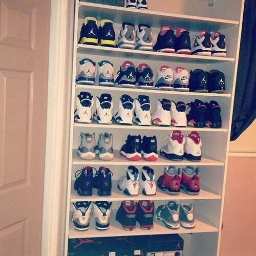 Jordan Sneaker Shelf Storage Sneaker Storage Jordans Shoes