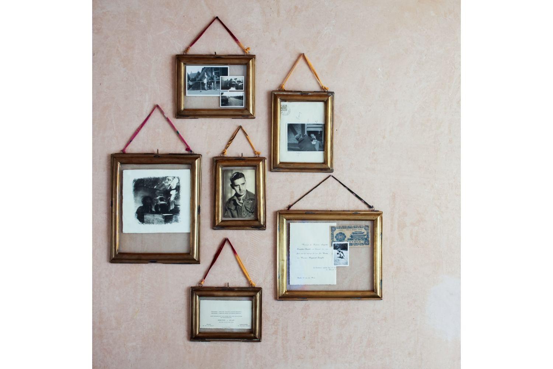 Cadre photo à suspendre vintage laiton doré paysage, taille S