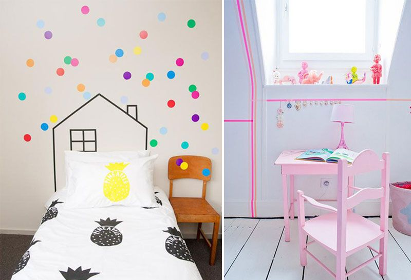 Awesome Washi Tape Ideas For Kids Rooms Children Room Girl