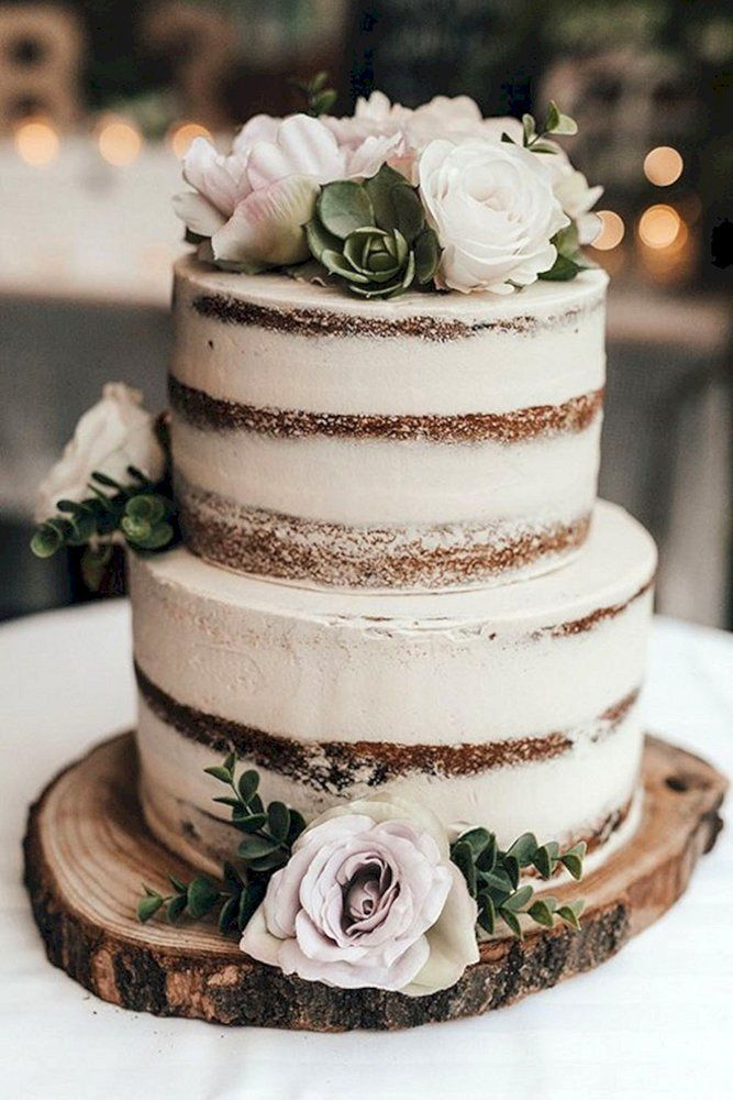 30 Small Rustic Wedding Cakes On A Budget | Wedding Forward