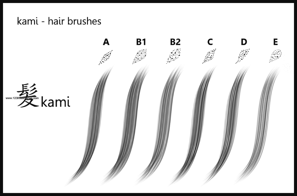 Hair Brushes Adobe 123Freebrushes