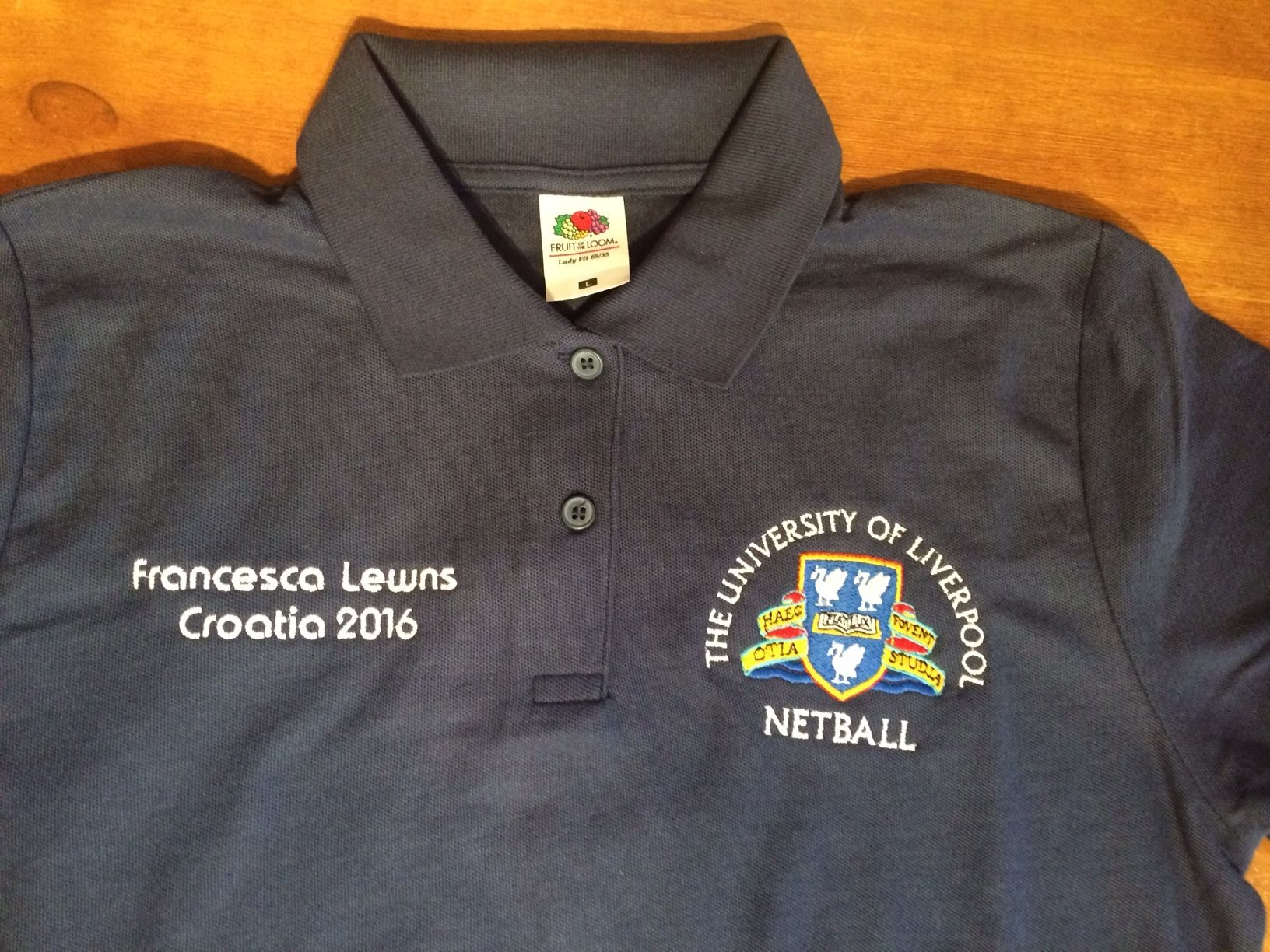 Custom Polo Shirt With Left Breast Embroidered Logo And Right Breast