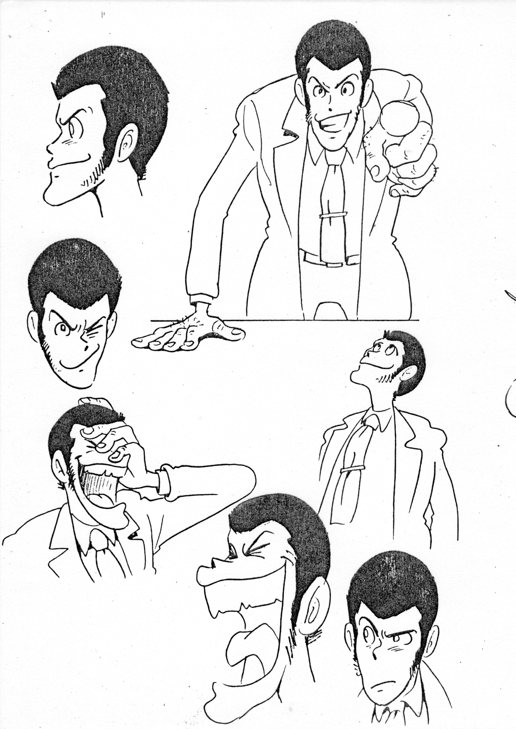 キャラクター 第一稿(改訂版)P05 漫画アート, Cgアート, アニメ