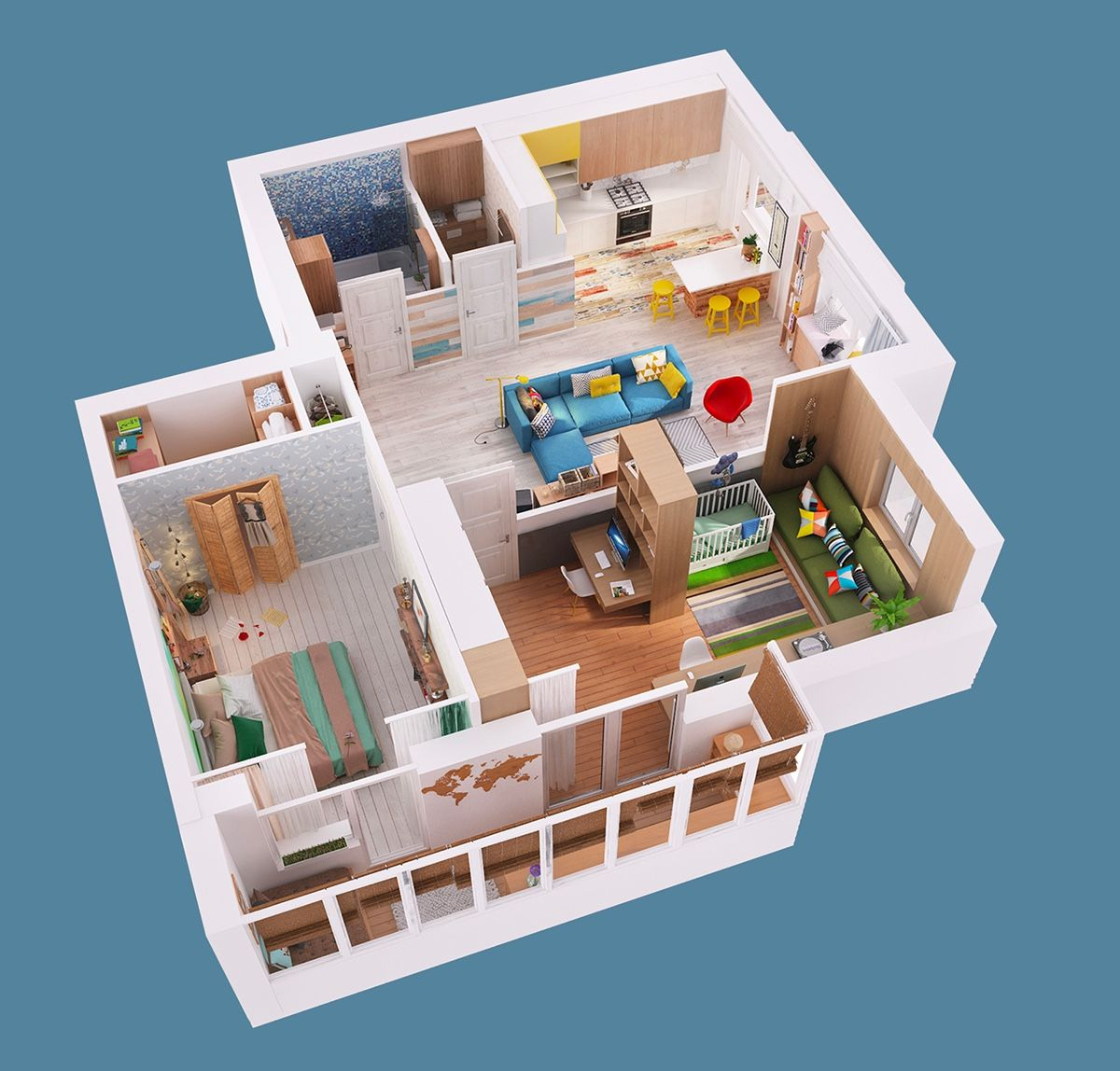2 gorgeous single story homes with 80 square meter floor space includes