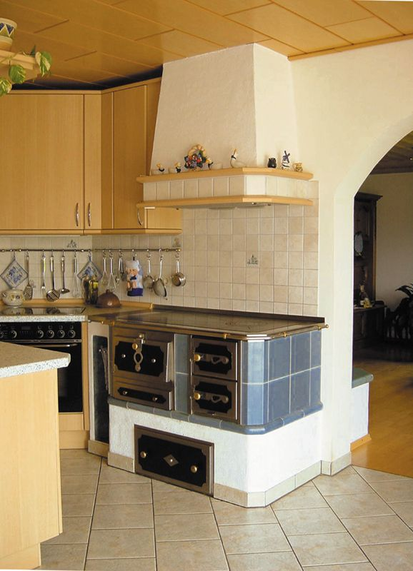 Austrian woodburning stove for the kitchen kitchens