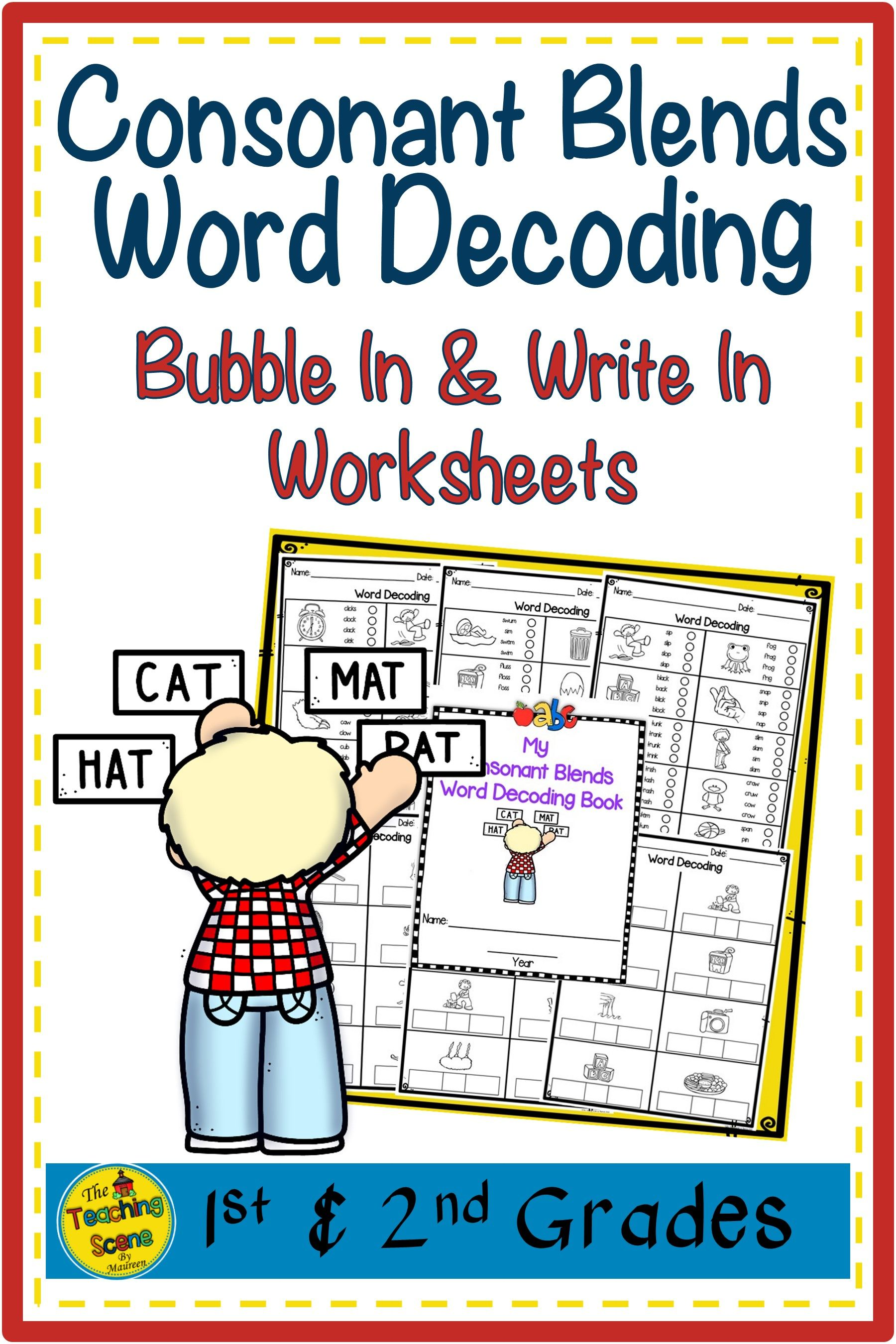 Consonant Blends Word Decoding Worksheets Amp Assessments In