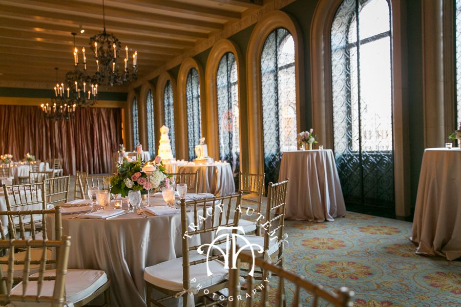 The Fort Worth Club Terrace Set Up With Reception Seating And Custom Cakes Kristen Preston Wedding At