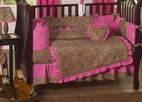 Baby Bedding Designer Crib Set, Cheetah Print Baby Bedding Set