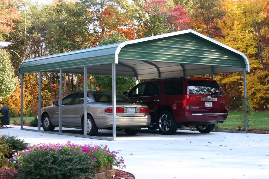 Portable metal carports portable carport kits sample for Garage pole cover