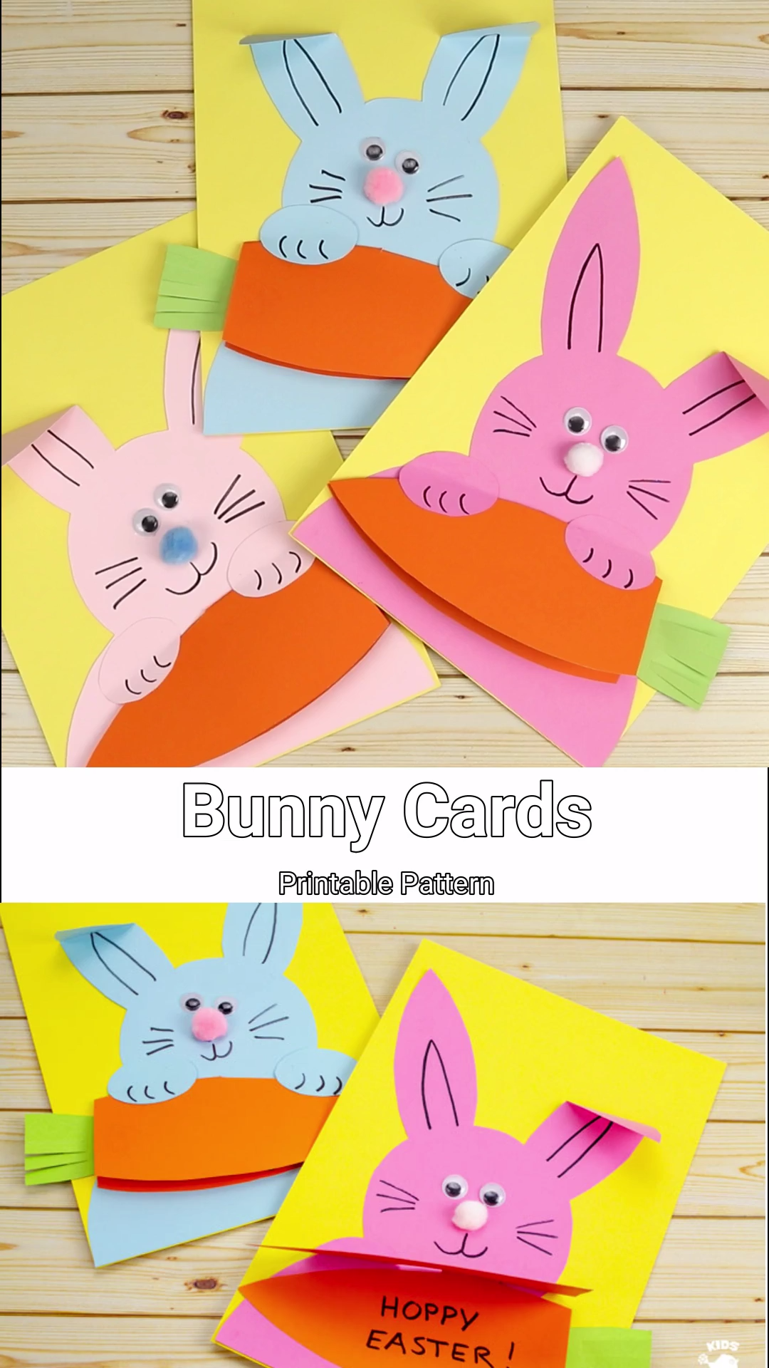Hungry Bunny Easter Cards #craftsforkids