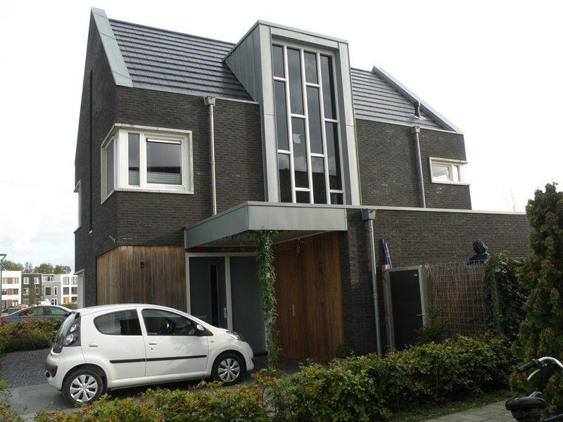 Bakstenen gevel modern huis 2 zijgevel zadeldak pinterest