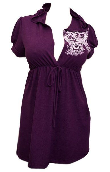 2922fca31ed Amazon.com  eVogues Low cut v-neck Hoodie top  Clothing (1x-5x) (purple