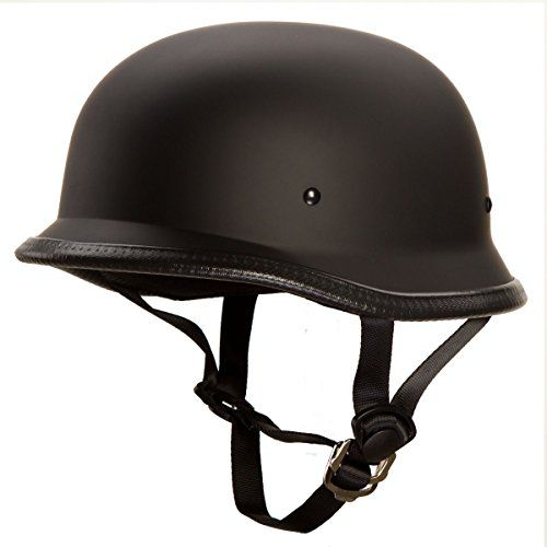 Low Profile Novelty German Half Chopper Helmet Skull Cap