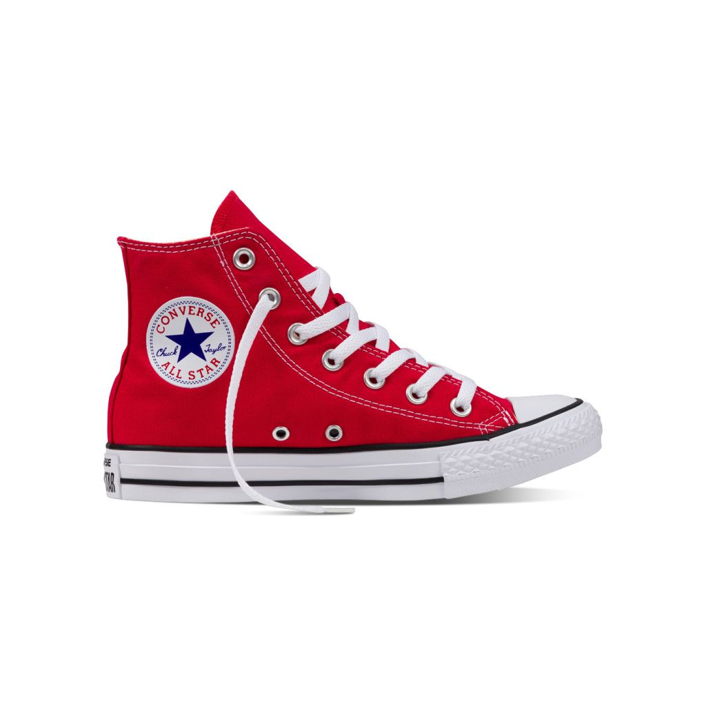 Chuck Taylor All Star Core Converse Red High Top Sneakers Red Trainers