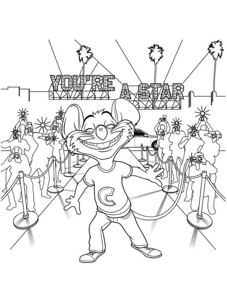 Printable Chuck E Cheese Coloring Pages Chuck E Cheese S Is A Chain Of American Family Entertainment Cen Coloring Pages Cartoon Coloring Pages Chuck E Cheese