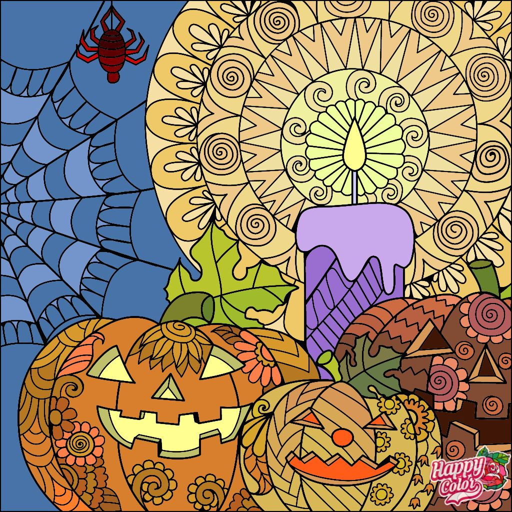 Pin by Potehina N on Halloween   Coloring book app ...