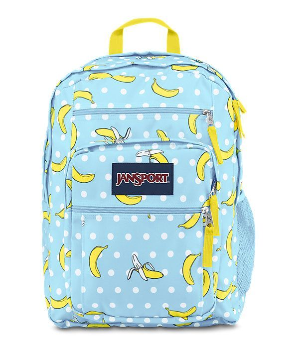 BIG STUDENT BACKPACK BY JANSPORT. Banana lovers sometimes get carried away!   banana www.twobananasart.com 1db8e4fd086d5