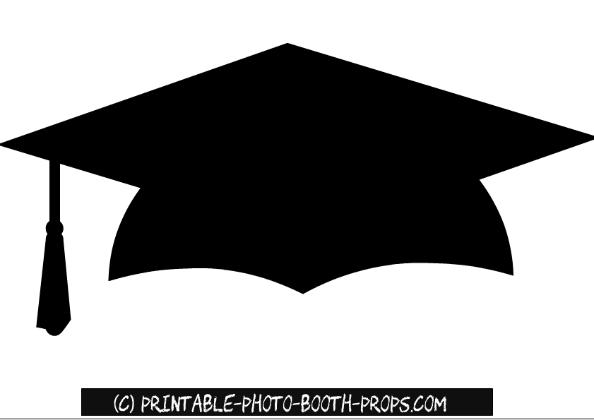 image regarding Graduation Photo Booth Props Printable known as Free of charge Printable Commencement Hat Image Booth Prop Commencement