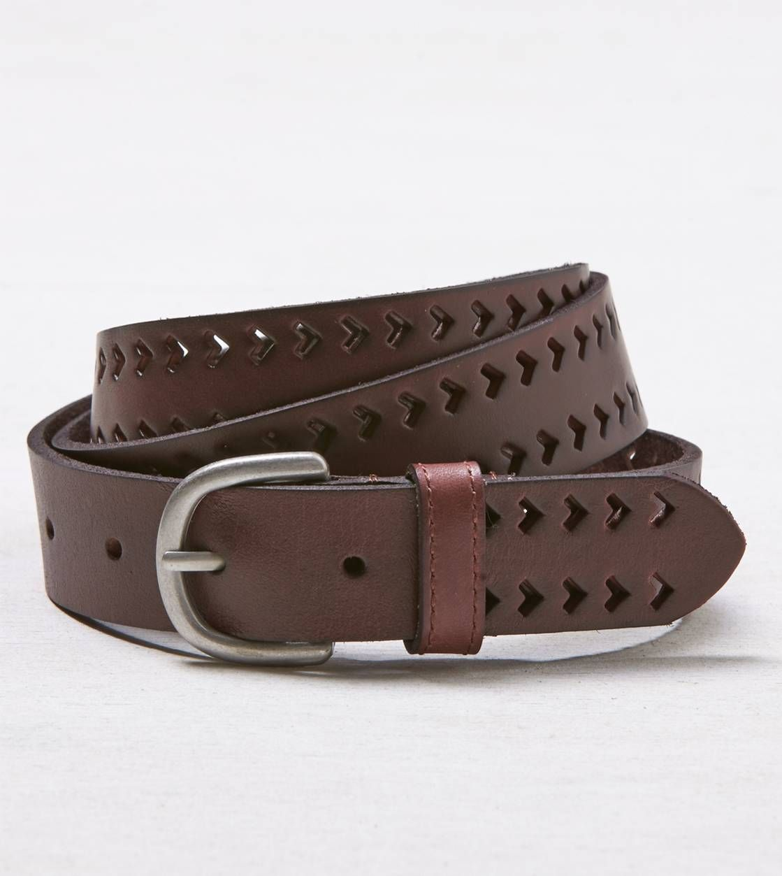 AEO Chevron Cutout Leather Belt