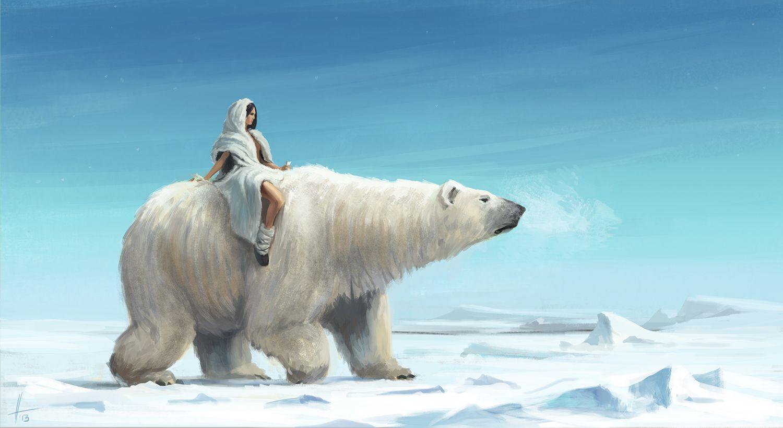картинки белых медведей фэнтези декоративный