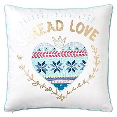 Holiday Spirit Pillow Cover Spread Love Pillows And Products Best Decorative Pillows For Teens