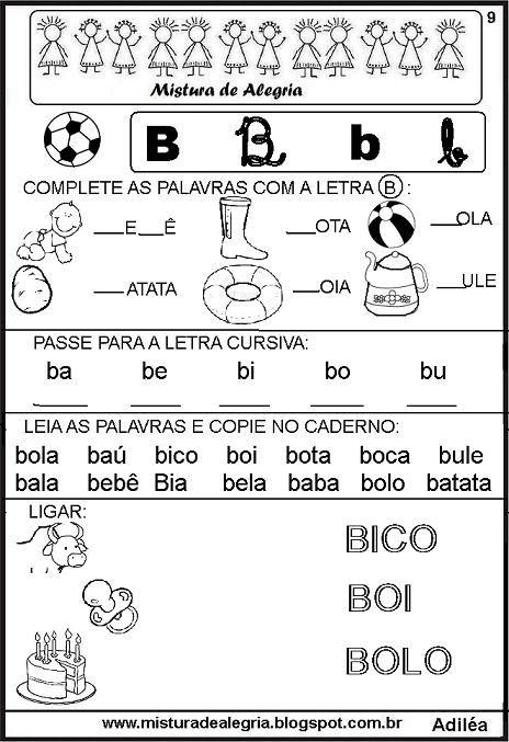 Livro Das Familias Silabicas Letra B Imprimir Colorir Jpg 464 677