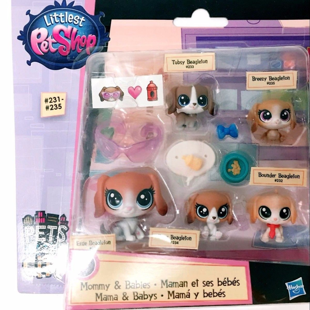 Hasbro Littlest Pet Shop Mommy Babies Beagle Dog Family Figure Cute Toy Doll Ebay Collectibles Baby Beagle Cute Toys Littlest Pet Shop