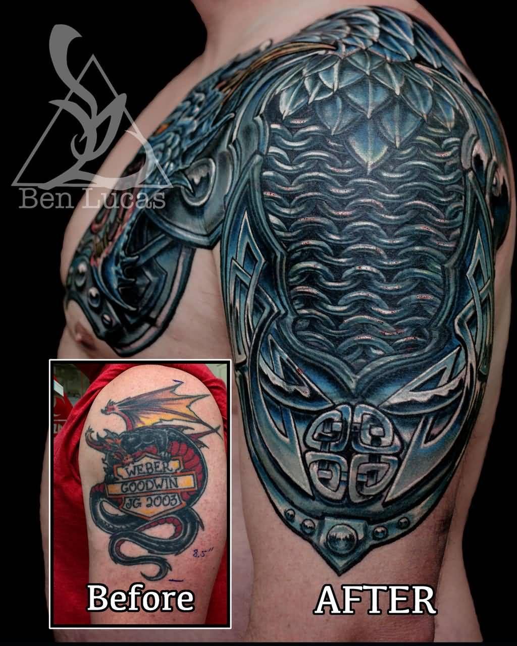 a27259c9a 30+ Medieval Armor Tattoos Ideas | armor tattoo | Armor tattoo ...