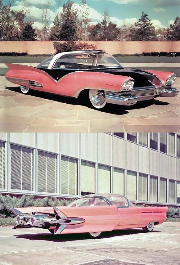 1955 Ford Mystere Concept Car. #Fordclassiccars #conceptcars