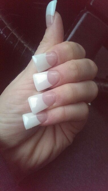 Ugly french tip nails