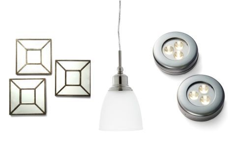 The Fix: Get creative with customized lighting to illuminate every corner of your cook space. Hang Mirrors: Mount the Threshold Square Beaded Mirrors ($34.99 for 3; Target.com) across from a window to bounce any natural light back into the room. Pick Pendants: Position these Brushed Nickel Mini Pendants ($39.88 for 3; HomeDepot.com) over an island, sink or anywhere you need extra light. Try Task Lights: A few wire-free, battery-operated LED Commercial Electric Puck Lights ($9.97 for 3…