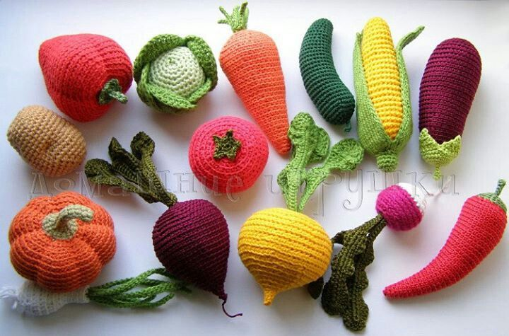 Amigurumi Vegetable Patterns : Crochet amigurumi vegetables crochet cosas en crochet