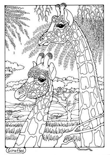Pin by Mi Véronique on Dessin coloriage | Giraffe coloring ...