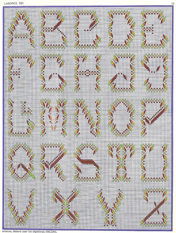 ABC Alphabet Vagonite - Punto Yugoslavo | plasticcanvas | Pinterest ...