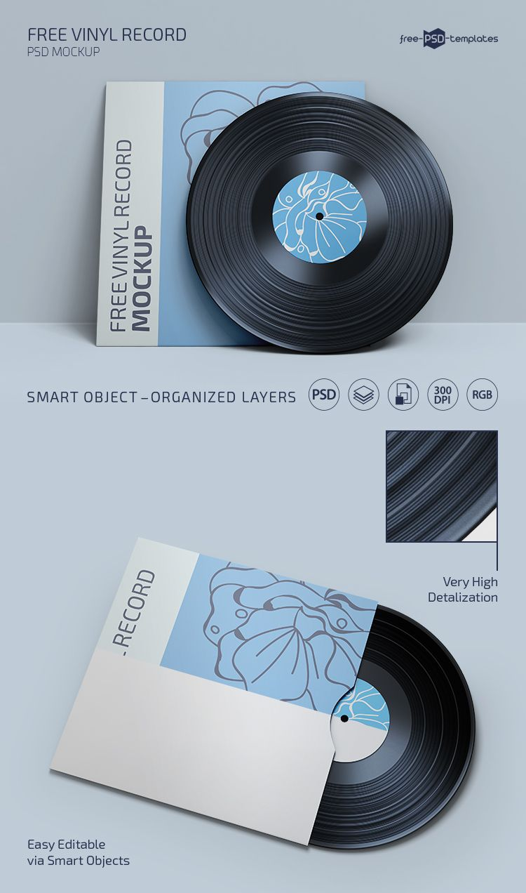 Free Psd Vinyl Record Mockup Template Free Psd Templates In 2020 Vinyl Records Mockup Template Free Vinyl