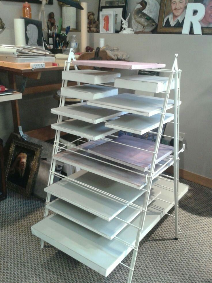 A nice drawing rack for canvas art studio storage ikea